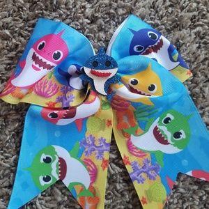 Blue Baby Shark Bow